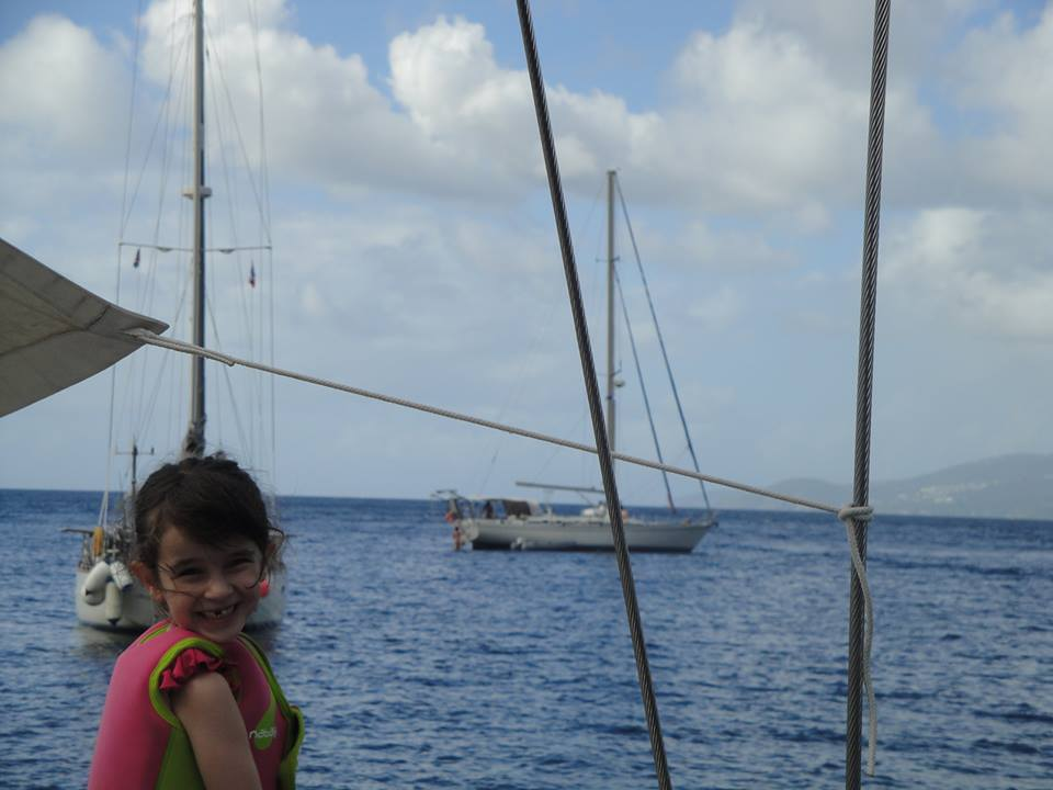 Chrystelle a embarqué en croisière voilier en famille aux Grenadines !