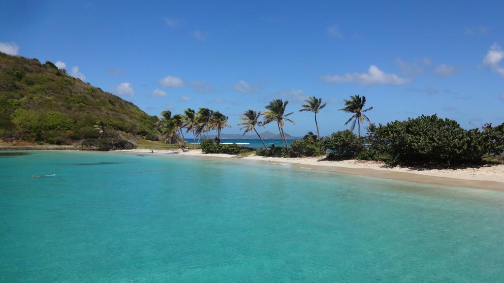 Découvrez le paisible mouillage de Mayreau par la mer lors d'une croisière voile et plongée au coeur des Grenadines avec un skipper professionnel.