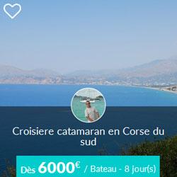 Miniature de l'offre de croisière catamaran Skippair en Corse du sud avec Jean-Pol