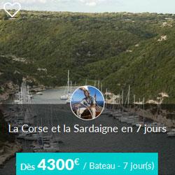 Miniature de l'offre de croisière Skippair en Corse et Sardaigne avec Christophe