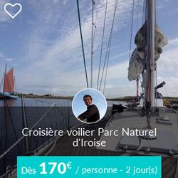Miniature de l'offre de croisière voilier Skippair dans le Parc naturel marin d'Iroise avec David