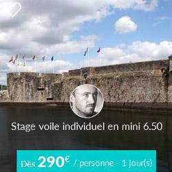 Miniature de l'offre de stage de voile individuel Skippair à Concarneau avec François