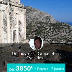 Miniature de l'offre de croisière Skippair dans les Cyclades avec Thomas