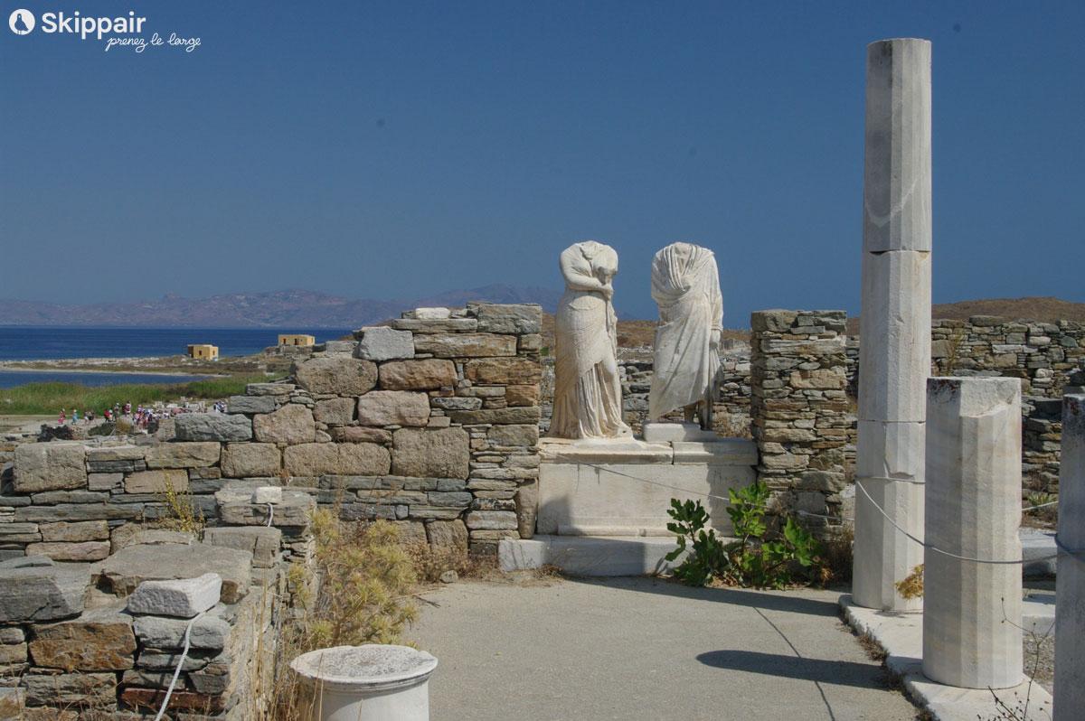 Maison de Cléopâtre sur Delos, en Grèce - Skippair