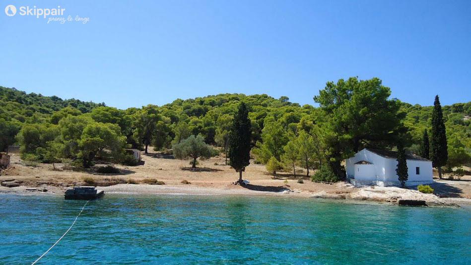Croisiere catamaran Peloponnese Mouillage