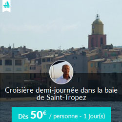 Miniature de l'offre de croisière Skippair en voilier avec Lionel dans la baie de Saint-Tropez