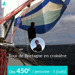 Miniature de l'offre Skippair Tour de Bretagne en voilier avec David