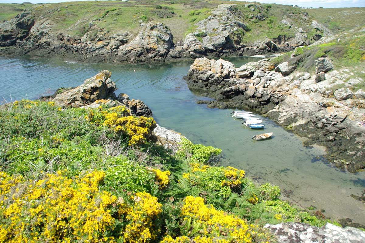 Port Saint-Nicolas sur l'île de Groix
