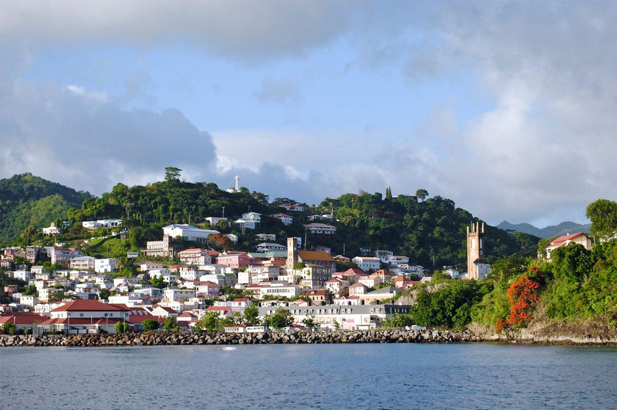 Saint-Georges, capitale de la Grenade, aux Antilles, vue de la mer - CC0 (Pixabay)