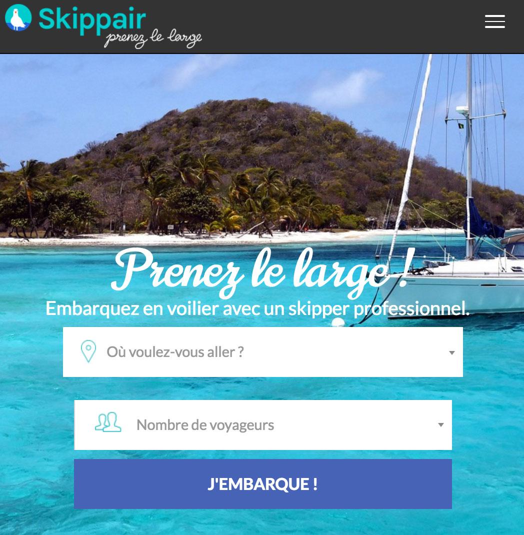 Skippair.com, spécialiste de la croisière en voilier avec skippers pros