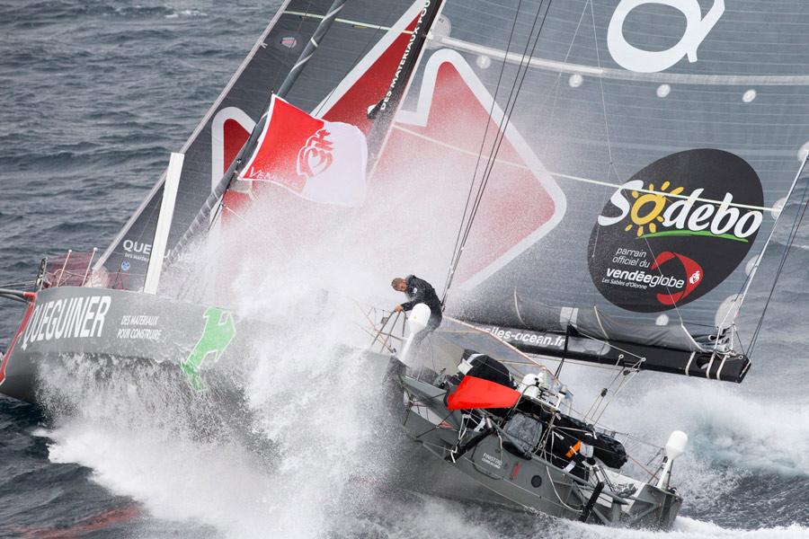 Yann Elies, skipper de Queguiner-Leucemie Espoir. Crédits : Alexis Courcoux
